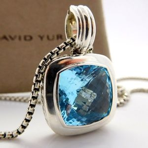 David Yurman 14mm Topaz Albion Necklace